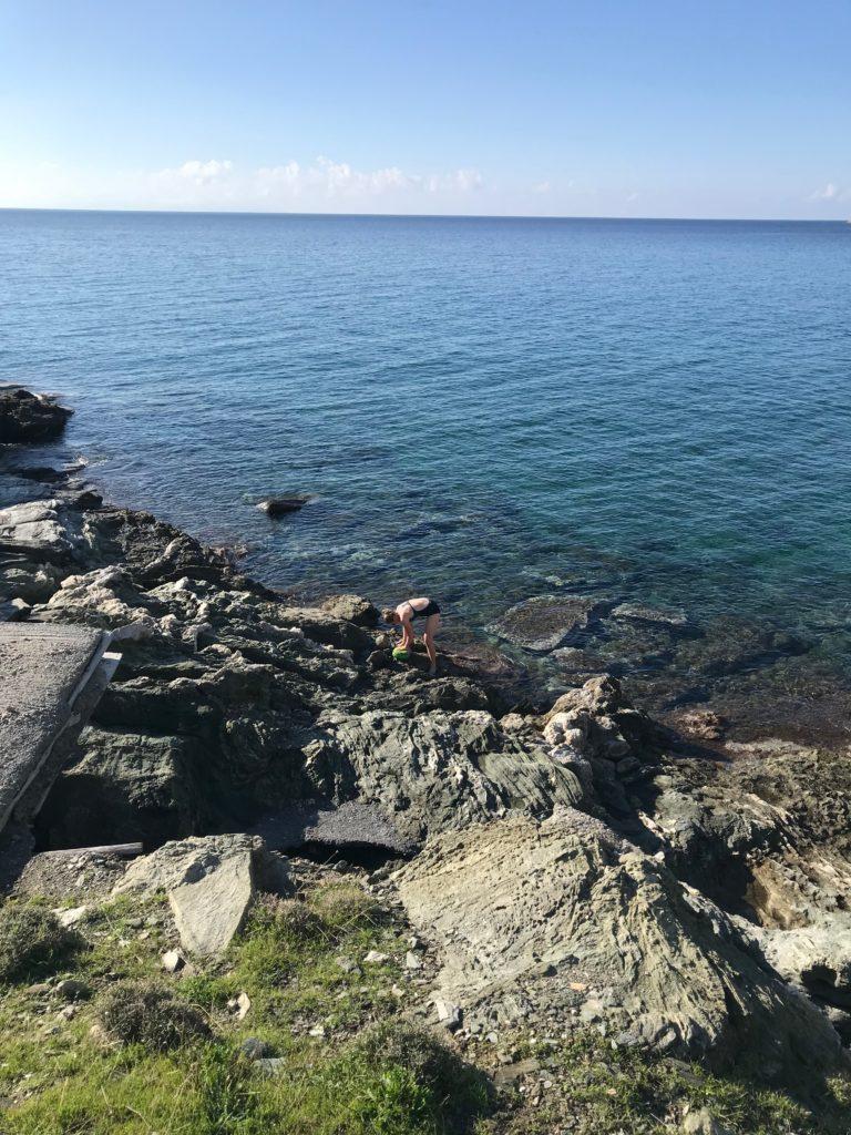 Britta nutzte das Meerwasser, um Süßwasser zu sparen.